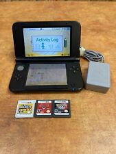 Nintendo 3DS XL Blue SPR-001 Game Lot X 3 with Charger/ No Stylus Pokemon pearl