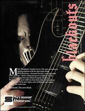 Slipknot Mick Thomson Seymour Duncan Blackouts Guitar Pickups 2007 ad print