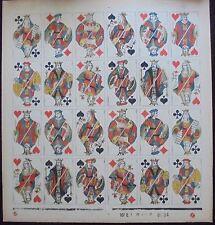 """planche de cartes à jouer Grimaud au portrait """"BL34"""".Circa 1930"""