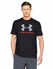 Under Armour 2016 Charged Cotton Sportstyle Logo Hommes Tee T-shirt Training Top Noir XL