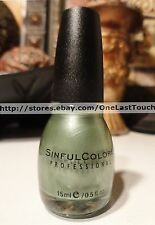 SINFUL COLORS Professional #1149 MOSS HAVE Nail Polish/Enamel GREEN SHIMMER