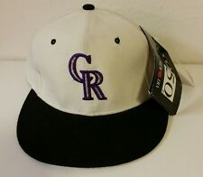 NEW Vtg Deadstock Colorado Rockies New Era 5950 Wool Fitted Hat Cap 6 3/4 MLB