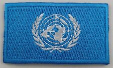 United Nations Flag Patch Embroidered Iron On Applique UN