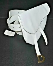 fashion saddle bum fanny belt bag pouch white designer inspired NEW