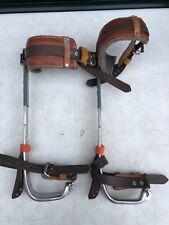 Bashlin A2 (2) Spikes w/ 105-Bc Pads; Adjustable Pole/ Tree Climbing Gaffs Spurs