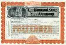 1902 Diamond State Steel Co Stock Certificate