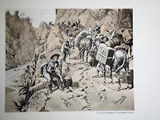 c71-86 Gravure contes & récits d'Alsace au pays d'Anahuac par Tanconville
