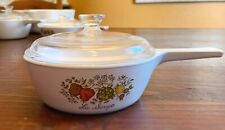 Corning Ware Spice Of Life La Sauge Vintage Pyrex Pan With Lid 1 Pint