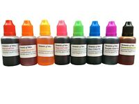 8x Soap Making bath bomb cosmetic colours water based dyes 30mL Set - High Conc!