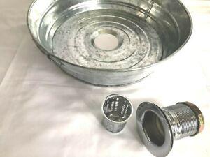 Galvanized Bucket/Tub Vessel Sink, Garden, Bathroom, Kitchen,Basin (Size X)