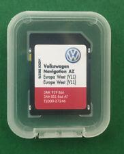 VOLKSWAGEN SKODA SEAT RNS 315 2019 Aggiornamento Mappe SD Card V11 Europa occidentale non per Regno Unito