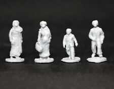 █ 1/72 Resin Modern People Civilian 4 Figures Unpainted Military Model KS057