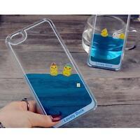 Cute New Duck Liquid Transparent Hard Case Cover Skin For iPhone 5 5S 6 6S 6P TT