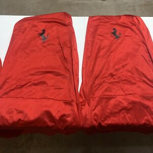 Vintage Ferrari Steering Wheel and Seat Covers Set. Fits 348 and Older Models