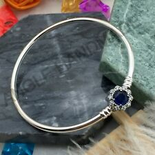 100% S925 Sterling Silver, Exclusive Blue Dream Bangle Bracelet Limited Edition