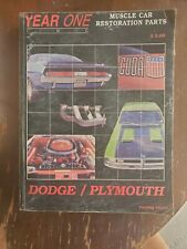 Year One Inc Catalog #R136 Dodge/Plymouth Muscle Car Restoration Parts 1966 - 74