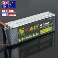 3S 11.1V 2200mAh 25C LiPo Battery Deans Pack for RC Car Airplane Helicopter
