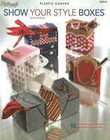 Show Your Style Boxes Plastic Canvas Patterns Suit Tux Purse Needlecraft Shop
