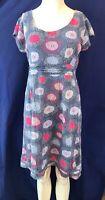 MISTRAL Cap Sleeve Knee Length Cotton Dress. Size UK 12
