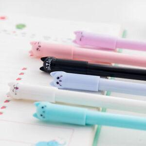 6 PCS Cartoon Cat Gel Pen Black Ink Pen Kawaii Stationery School Office Supplies
