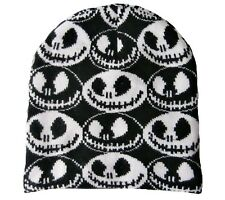 Nightmare Before Christmas Jack Beanie Hat Black and White Faces style NBC