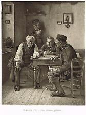 Old Men Talking Print Picture Brozik Une Grave Affaire A Grave Affair Decectives