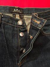 APC Mens New Cure Slim Denim Blue Jeans Size 27x31.5 Very Slim Rocker Buckler