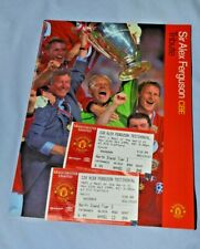 More details for alex ferguson testimonial program and 2 ticket stubs from game  - free postage