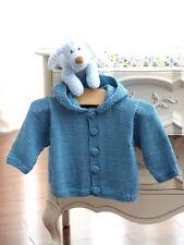 Hood/Jacket  Baby/Children  6 - 24 mths Aran Cotton Knitting Pattern