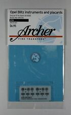 Archer 1/24 Opel Blitz Instruments and Placards (for Italeri kit No.305) AR35367