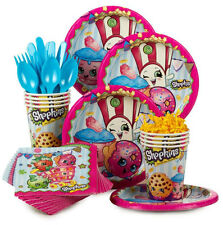 Shopkins Birthday Party Supplies Table Kit 40pc Plates Cups Napkins Cutlery
