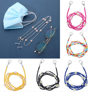 Daisy Glasses Neck Chain Lanyard Beads Strap Reading Cord Spectacles Holder