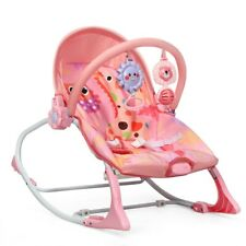 Adjustable Toddler Swing Bouncer & Rocker-Pink