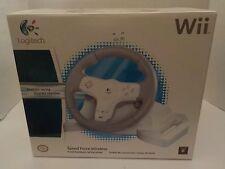 Nintendo Wii & U Logitech Speed Force Wireless Racing Wheel MARIO KART NEW