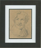 Late 19th Century Graphite Drawing - 17th Century Man