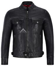Men's Leather Jackets Black Biker Classic Lambskin Motorcycle Style 1345