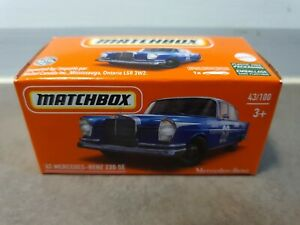 MATCHBOX 2021 - '62 MERCEDES BENZ 220E [BLUE] POWER GRABS