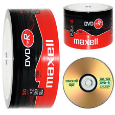 Genuine MAXELL DVD-R 50 Pack Blanc disques enregistrables DVD 16x 4.7 Go 120 min PC