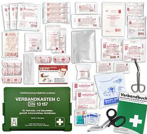 Betriebsverbandkasten nach DIN/EN 13157 inkl. perforiertem Verbandbuch - DSGVO -