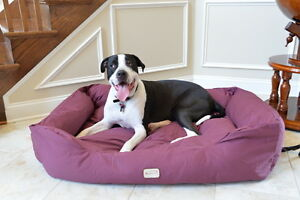 "Armarkat XL Dog Pet Bed w/ Heavy Duty Canvas Waterproof Skid-Free Burgundy 49"""