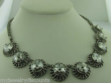 Ncn1Asssh Antique silver tone Sorrelli Silver Shade Necklace