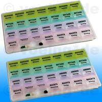 2x Pillendose Pillenbox Tablettendose Tablettenbox Dose 7 Tage mit Klappöffnung