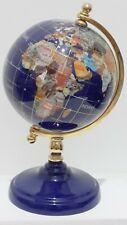 Alexander Kalifano? Desk Globe - Lapis Lazuli - Rotating World Globe 20cm