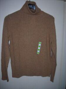 M&S Wool Rich Roll Neck Jumper - Camel - Size 12 - BNWT