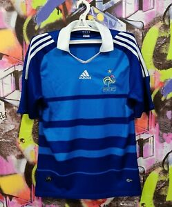 France National Football Team 2008 2009 Home Soccer Jersey Shirt Adidas Mens S