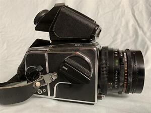 HASSELBLAD 503CXi Camera w/ Zeiss Planar 80mm f/2.8 Lens & Eye Level Finder &A12