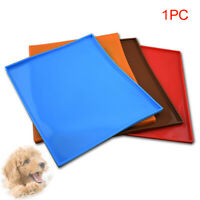 Pet Puppy Silicone Waterproof Feeding Food Mat Dog Cat Non-Slip Bowl Placemat