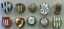 VINTAGE SOCCER FOOTBALL ARGENTINA BUTTON HOLE ENAMEL PIN BADGE LOT 10 PIECES!!!