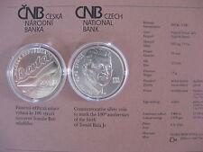 República Checa 2014 200 coronas moneda de plata coin St bu-Tomas Bata -