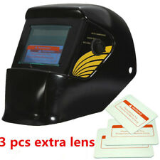 Solar Auto Darkening Welding Helmet Mask MIG/ARC/TIG Welder Machine Black